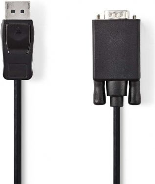 Nedis DisplayPort - VGA Cable | DisplayPort Male - VGA Male | 2.0 m | Black, CCGP37300BK20