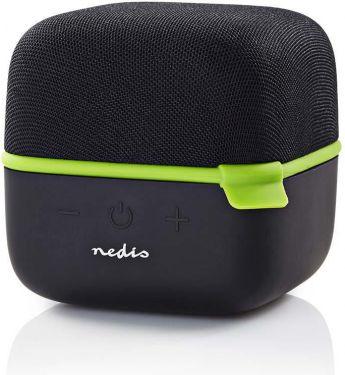 Nedis Bluetooth®-højttaler | 15 W | True Wireless Stereo (TWS) | Sort/grøn, SPBT1000GN