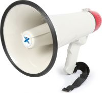 Megafon ekstra kraftig 40W, med sirene og optage/afspille funktion