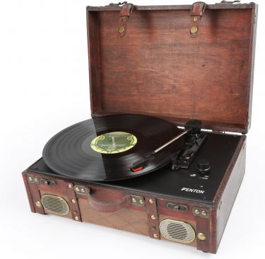 RP140 Record Player Leather Briefcase