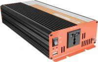 """Inverter """"soft start"""" fra 12V til 230V / 1000W, ren sinus (kan bruges til alt optil 1000W)"""
