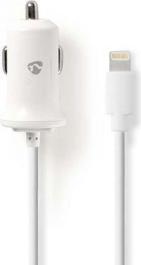 Nedis Billader | 2,4 A | Fast kabel | Apple Lighting | Hvit, CCHAL240AWT