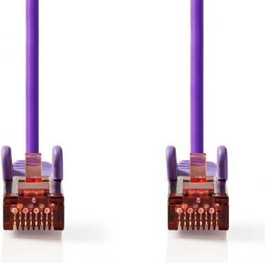 Nedis Cat 6 S/FTP Network Cable | RJ45 Male - RJ45 Male | 1.0 m | Voilet, CCGP85221VT10