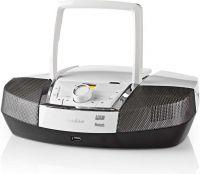 Nedis Bærbart lydanlegg | 12 W | Bluetooth® | CD-Spiller/FM-Radio/USB/AUX | Hvit, SPBB200WT