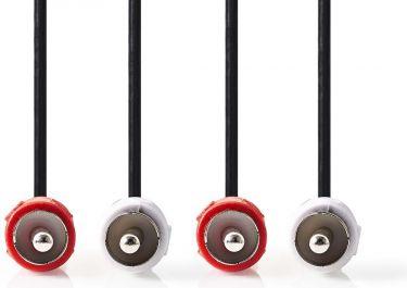 Nedis Stereo Audio Cable | 2x RCA Male - 2x RCA Male | 3.0 m | Black, CAGP24200BK30