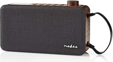 Nedis Digital DAB + radio   12 W   FM   Bluetooth®   Brun/Sort, RDDB4300BN
