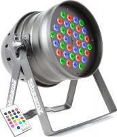Par 64 LED lampe / 36x 3W RGBW LED'er / DMX, Musikkstyring og IR fjernkontroll