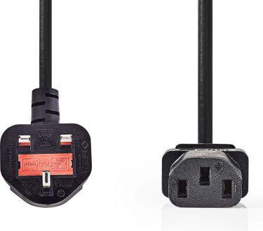 Nedis Power Cable   Type G Plug (UK) - IEC-320-C13   5.0 m   Black, CEGP11100BK50