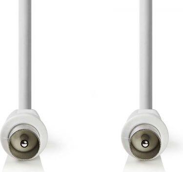 Nedis Koaksialkabel 90 dB | IEC (koaksial), hann - IEC (koaksial), hann | 3,0 mm | Hvit, CSGB40200WT