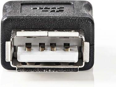 Nedis USB 2.0-adapter   A, hunn - A, hunn   Sort, CCGP60900BK