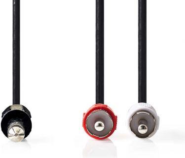 Nedis Stereolydkabel | 6,35 mm, hann - 2 stk. RCA, hann | 2,0 m | Sort, CAGP23300BK20