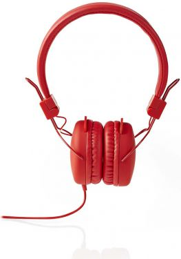 Nedis Wired Headphones | On-ear | Foldable | 1.2 m Round Cable | Red, HPWD1100RD