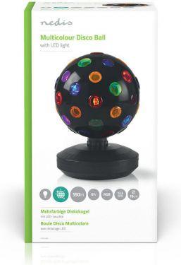 Nedis Multi-Colour Disco Ball   6 W   550 lm   20 cm, FUDI213BK