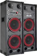 """Aktivt højttalersæt SPB-28 / 2x8"""" bas / 2x400W / USB/MP3-afspiller (til ungdomsværelset / hjemmebrug"""