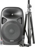 Vexus SPS152 Aktiv højttaler med stativ og mikrofon - klar til brug til fx tale, sang mm.
