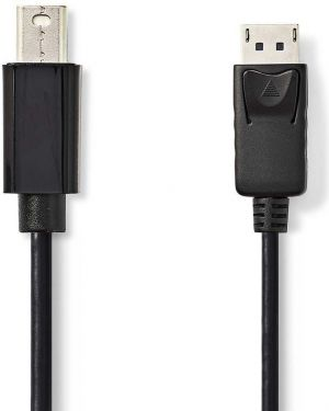 Nedis Mini-DisplayPort – DisplayPort-kabel   Mini-DisplayPort, hann - DisplayPort, hann   3,0 mm   S