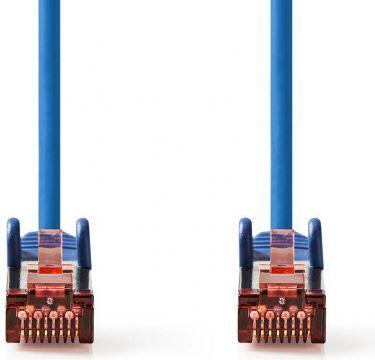 Nedis Cat 6 S/FTP Network Cable | RJ45 Male - RJ45 Male | 0.15 m | Blue, CCGP85221BU015