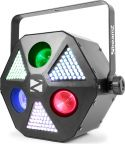 Light Effects Hybrid, MadMan 3x 30W RGBW 4-in-1 Beam / 132 SMD 3-in-1 LEDs
