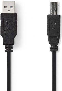 Nedis USB 2.0-Kabel   A, hann - B, hann   3,0 mm   Sort, CCGB60100BK30