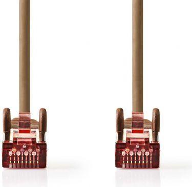 Nedis Cat 6 S/FTP Network Cable   RJ45 Male - RJ45 Male   10 m   Brown, CCGP85221BN100