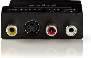 Nedis SCART-adapter | SCART, hann - 3 stk. RCA, hunn + S-Video, hunn||, CVBW31902AT