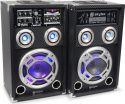 """Aktivt højttalersæt KA-08 med LED lys / 8"""" bas 600W / karaoke-funktion / USB/SD/MP3-afspiller"""