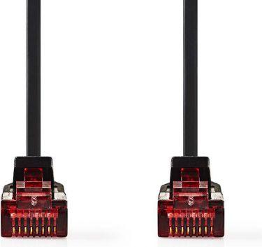 Nedis Cat 6 UTP Network Flat Cable   RJ45 Male - RJ45 Male   10 m   Black, CCGP85215BK100