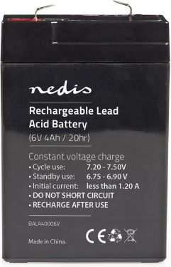Nedis Rechargeable Lead-Acid Battery 6V | 4500 mAh | 70 x 47 x 101 mm, BALA45006V