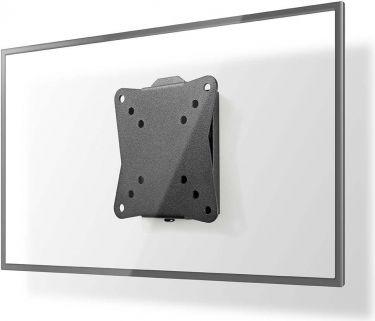 Nedis Fast TV-veggmontering   13-27 tommer   Maks 30 kg   20 mm veggdistanse, TVWM1010BK