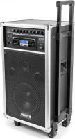 Mobilt lydanlæg ST-100 / 250W Bluetooth/CD/USB/SD-input, 2 trådløse mikrofoner og optagefunktion