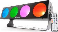 BeamZ LUCID 1.4 - 4x 10W COB LEDs DMX - Flot til fx vægbelysning / mange farvemuligheder!
