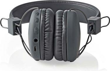 Nedis Trådløse hovedtelefoner   Bluetooth®   On-ear   Foldbar   Grå, HPBT1100GY