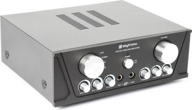 Stereo Hi-Fi Forstærker 2x50W med Karaoke, Sort
