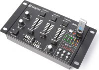 STM-3020B 6-Channel Mixer USB/MP3 - Black