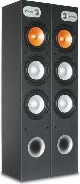"""Hi-Fi højttalersæt SHFT650B, 3-vejs gulvmodel med 3x 6.5"""" bas / 460W, sort"""