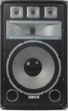 "VONYX TX15 3-vejs Diskohøjtaler - 15"" bas 500W"