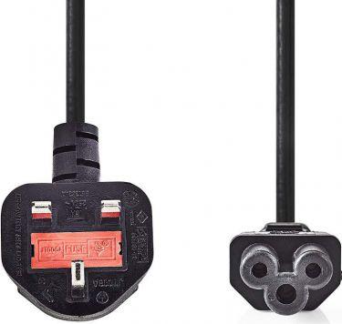 Nedis Power Cable   Type G Plug (UK) - IEC-320-C5   2.0 m   Black, CEGP11120BK20