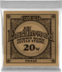 Musikinstrumenter, Ernie Ball EB-1820, Single .020 Wound Earthwood Phosphor Bronze str