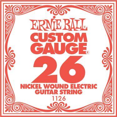Ernie Ball EB-1126, Single .026 Nickel Wound string for Eletric gui