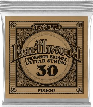 Ernie Ball EB-1830, Single .030 Wound Earthwood Phosphor Bronze str