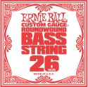 Musikinstrumenter, Ernie Ball EB-1626, Single .026 Nickel Wound string for Electric Bass