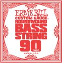 Musikinstrumenter, Ernie Ball EB-1690, Single .090 Nickel Wound string for Electric Bass