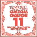 Musikinstrumenter, Ernie Ball EB-1011, Single .011 Plain Steel string for Eletric or