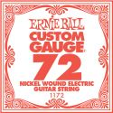 Musikinstrumenter, Ernie Ball EB-1172, Single .072 Nickel Wound string for Eletric gui