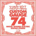 Musikinstrumenter, Ernie Ball EB-1174, Single .074 Nickel Wound string for Eletric gui