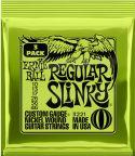 Musikinstrumenter, Ernie Ball EB-3221, 3-pack Regular Slinky 10-46