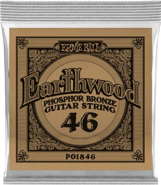 Ernie Ball EB-1846, Single .046 Wound Earthwood Phosphor Bronze str