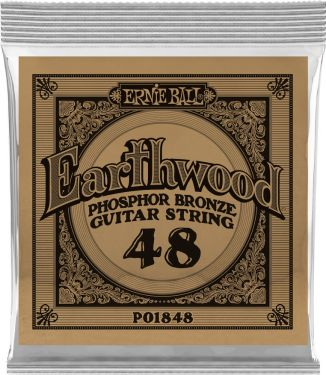 Ernie Ball EB-1848, Single .048 Wound Earthwood Phosphor Bronze str