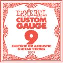 Ernie Ball EB-1009, Single .009 Plain Steel string for Eletric or