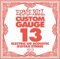 Ernie Ball EB-1013, Single .013 Plain Steel string for Eletric or